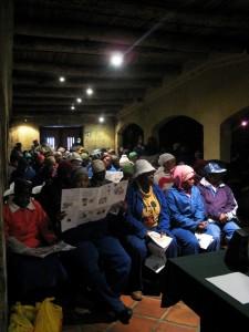 Treffen der Arbeiterschaft vom Weingut Koopmanskloof