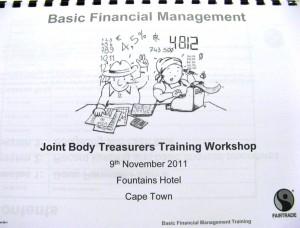 Deckblatt fuer das Treasurers Training-Handbuch