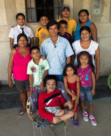 Juan mit seiner Familie