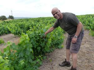 Reydal Jeftah mit mir in den Weinbergen
