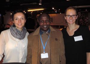 Ich und meine Kollegin Corina Nienhaus mit Victor Biwot aus Kenia.