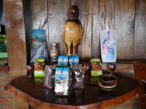 Auch für den regionalen Verkauf: Kaffee von Los Pintos