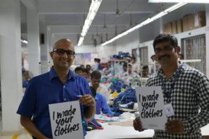 Amit Narke (links) und Hasmukh Dodhi (rechts) von Purecotz ecolifestyles aus Indien. Bild: Dominik Jakob