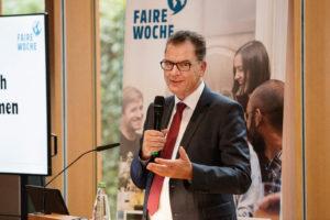 Dr. Gerd Müller, Enticklungsminister und Schirmherr der Fairen Woche