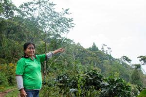 """Elena Maruja Casos Rodriguez ist Kaffeeproduzentin aus Chanchamay und Besitzerin ihrer eigenen Farm """"La Libertad""""."""