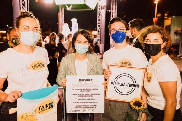 FairActivists treffen Annalena Baerbock in Köln – und erhalten Unterstützung für die Aktion #FairerAufbruch
