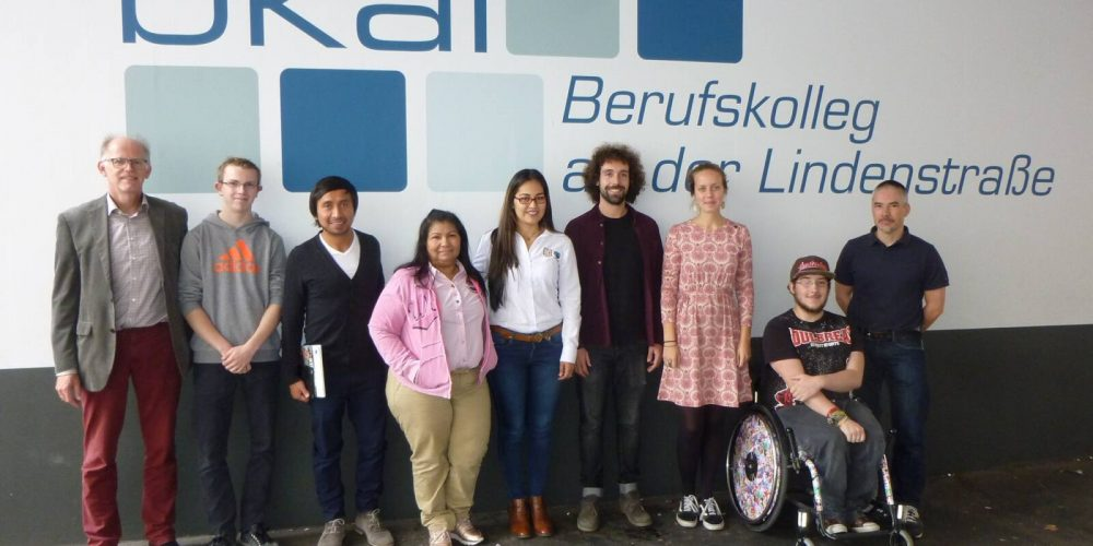 Produzentenbesuch im Berufskolleg an der Lindenstraße mit interessierten SchülerInnen