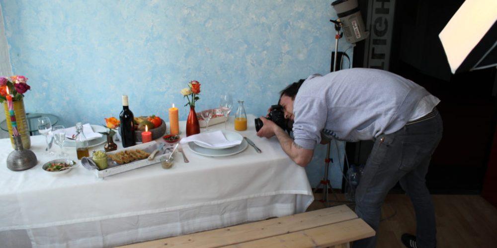 Fotoshooting für das Rezeptheft 2016