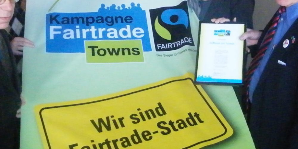 Andernach, Bad Homburg, Oestrich-Winkel und Ochtrup – vier Städte auf dem Weg zur Fairtrade Town