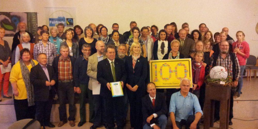 Vlotho ist 100. Fairtrade-Stadt
