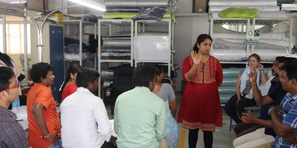 Textilprogramm in Tirupur: Schulungen für Arbeiterkomitees