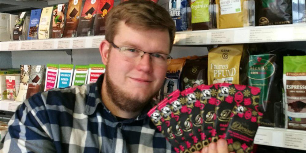 Hendrik in der (Fairtrade-) Schokoladenfabrik